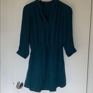 Aritzia silk shirt dress